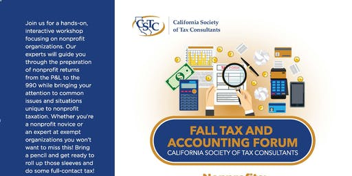 Fall Tax and Accounting Forum