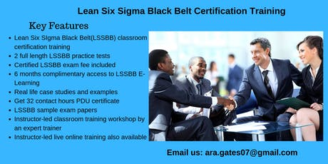 Lean Six Sigma Black Belt (LSSBB) Certification Course in Amador City, CA tickets