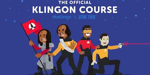 KLINGON with the creator MARC OKRAND