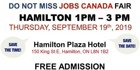 Hamilton Job Fair –  September 19th, 2019 tickets