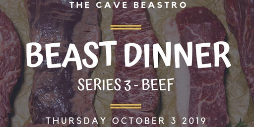The Cave Beastro Beast Dinner Series 3 - BEEF