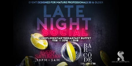 LATE NIGHT SOCIAL - BARCODE SATURDAYS  tickets