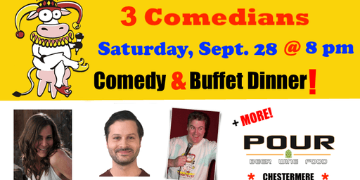 SATURDAY, September 28 @ 8 pm - FunnyFest Comedy Series @ POUR BEER MARKET - 3 Comedians