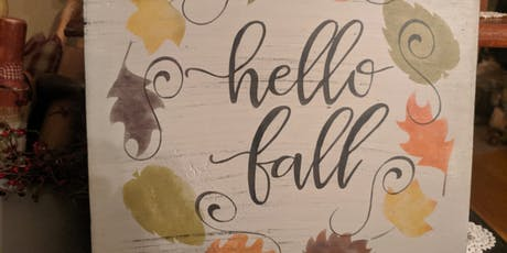 Create a Fall Sign tickets