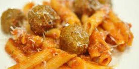 The Columbus Day Bazaar Cent' Anni  Sunday Pasta Meatball Dinner tickets
