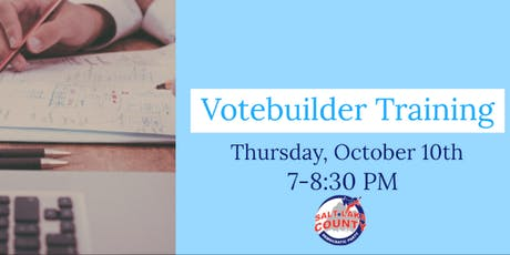 Votebuilder Training - October 10th tickets