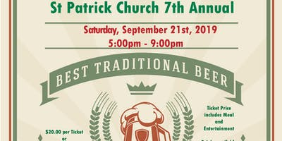 St. Patrick Church 7th Annual Oktoberfest - Sept. 21, 2019