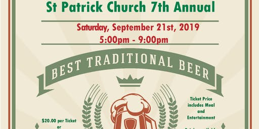 St. Patrick Church 7th Annual Oktoberfest - Sept. 21, 2019
