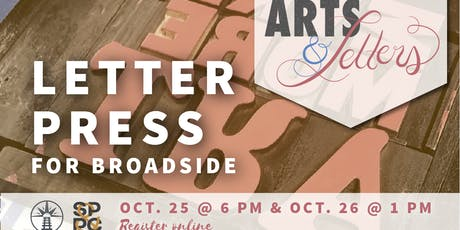 Arts & Letters: Letterpress for Broadside tickets