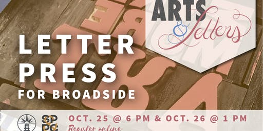 Arts & Letters: Letterpress for Broadside