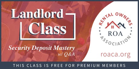 Security Deposit Mastery tickets