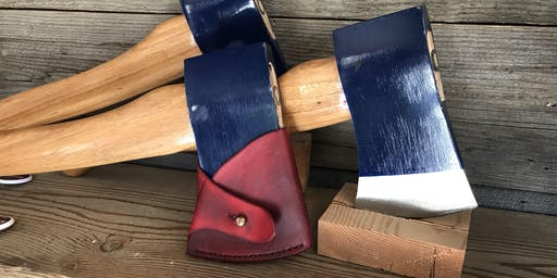 Custom axe sheath workshop