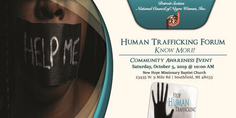 "Human Trafficking Forum 2019: ""Know More!"" tickets"
