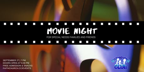 Movie Night for Special Needs Families and Friends tickets