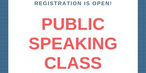 Public Speaking Class (Series), Level I (6th - 12th grade)