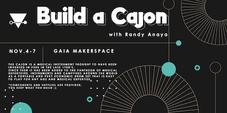 Build a cajon (portable drumset) boletos