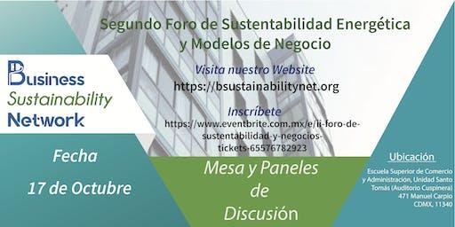 Segundo Foro de Sustentabilidad Energética y Modelos de Negocios