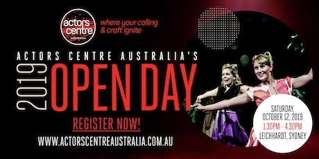 Actors Centre Australia's 2019 OPEN DAY! tickets