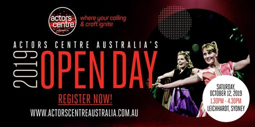 Actors Centre Australia's 2019 OPEN DAY!