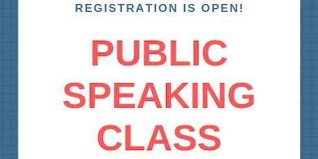 Public Speaking Class (Series), Level II (6th - 12th grade) tickets