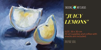 JUICY LEMONS - coffee and paint workshop