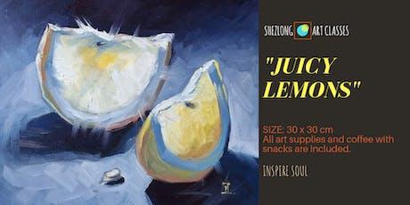 JUICY LEMONS - coffee and paint workshop tickets