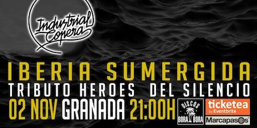 Iberia sumergida tributo Héroes del silencio en Industrial Copera, Granada