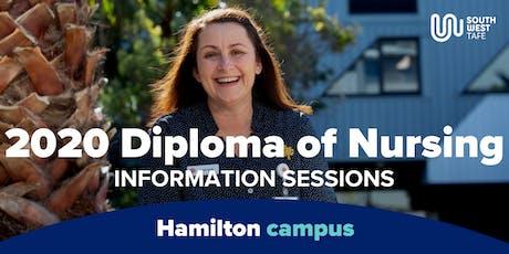 Diploma of Nursing 2020 Information Session - Hamilton tickets