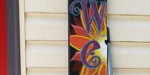 WELCOME Porch Board Create & Sip