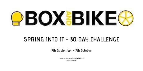 Box & Bike - Spring into it challenge! tickets