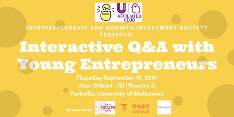 EGIS: Interactive Q&A with Young Entrepreneurs tickets