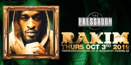 RAKIM @ The Pressroom tickets