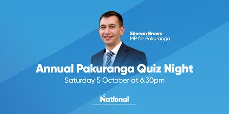 Annual Pakuranga Quiz Night tickets