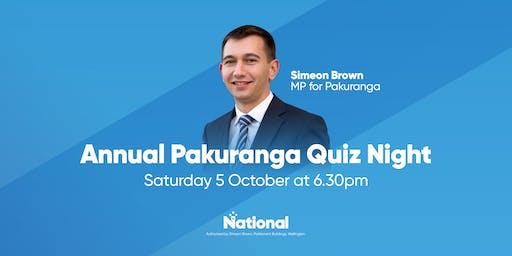 Annual Pakuranga Quiz Night
