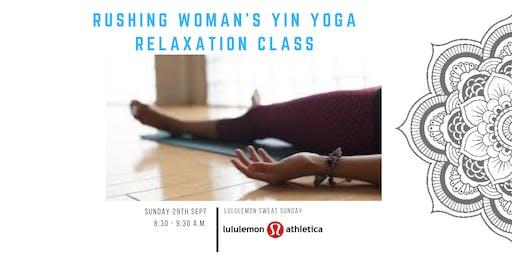 Lululemon Mt Maunganui // Rushing Woman's Yin Yoga Relaxation Class