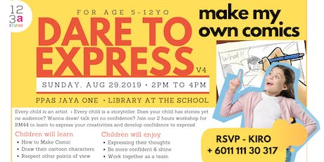 Dare to Express v4 - make my own comics tickets
