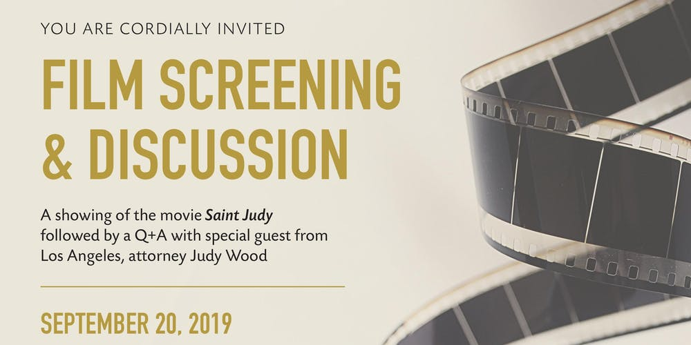 VIP Movie Screening of Saint Judy and Q&A with Special Guest