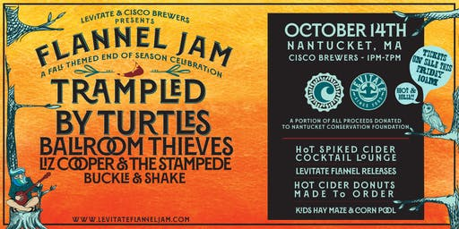 Levitate Flannel Jam on 10.14.19 - NANTUCKET, MA