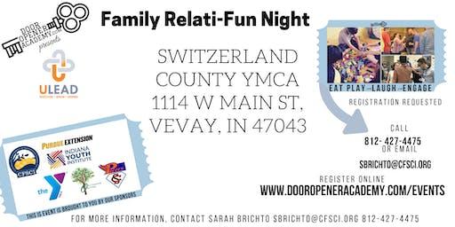 Family Relati-Fun Night in Switzerland County with Skye Berger
