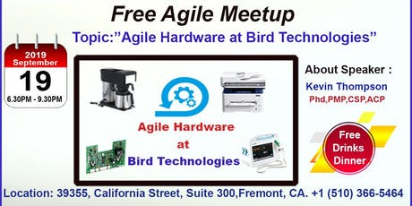 Free Agile Meetup in Fremont-Sept 19th,2019 tickets