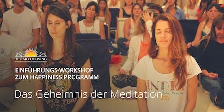 Entdecke das Geheimnis der Meditation - Kostenloser Einführungsworkshop in Roseinheim Tickets