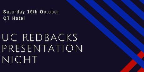 UC Redbacks Netball Club 2019 Presentation Night tickets