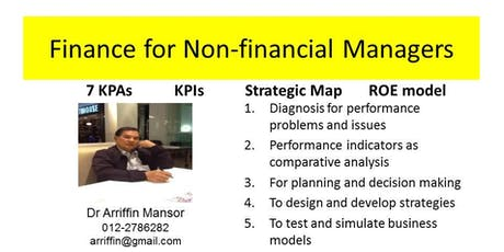 FINANCE for NON-FINANCIAL MANAGERS: using spreadsheet as an analytical tool tickets