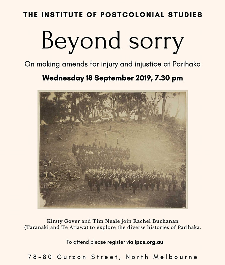 Beyond Sorry: On making amends for injury and injustice at Parihaka image