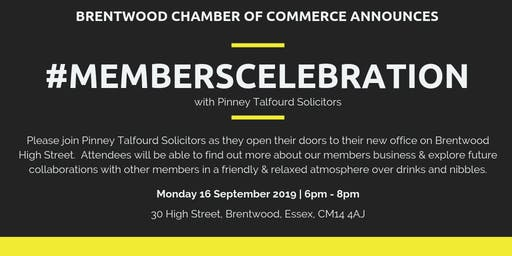 Members Celebration Event Hosted by Pinney Talfourd Solicitors