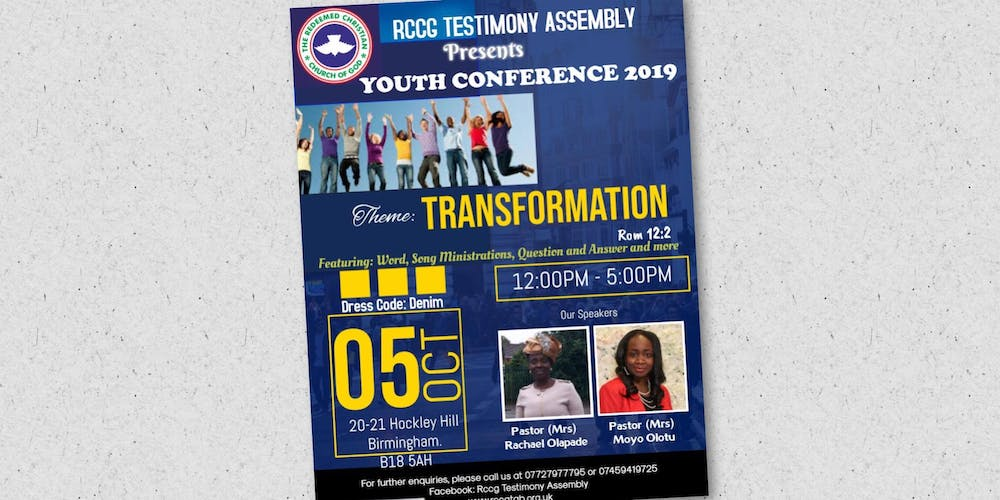 Youth Conference Tickets, Sat, Oct 5, 2019 at 12:00 PM