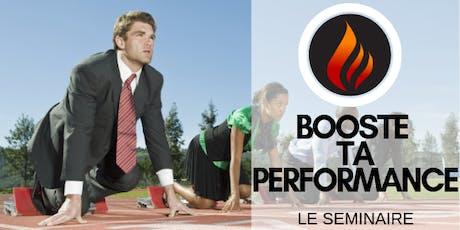 Le séminaire Booste ta  performance billets