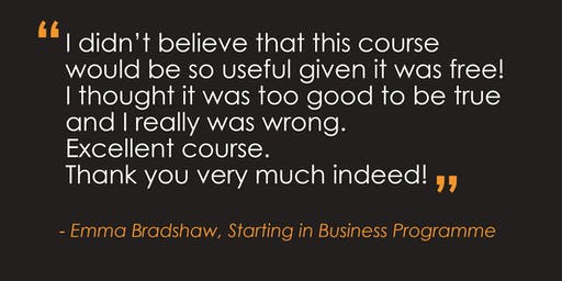 Starting in Business Programme | Derby