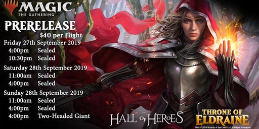 Magic the Gathering Throne of Eldraine : 4pm Sunday Afternoon 2HG Prerelease