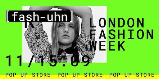 LONDON FASHION WEEK / Pop up store